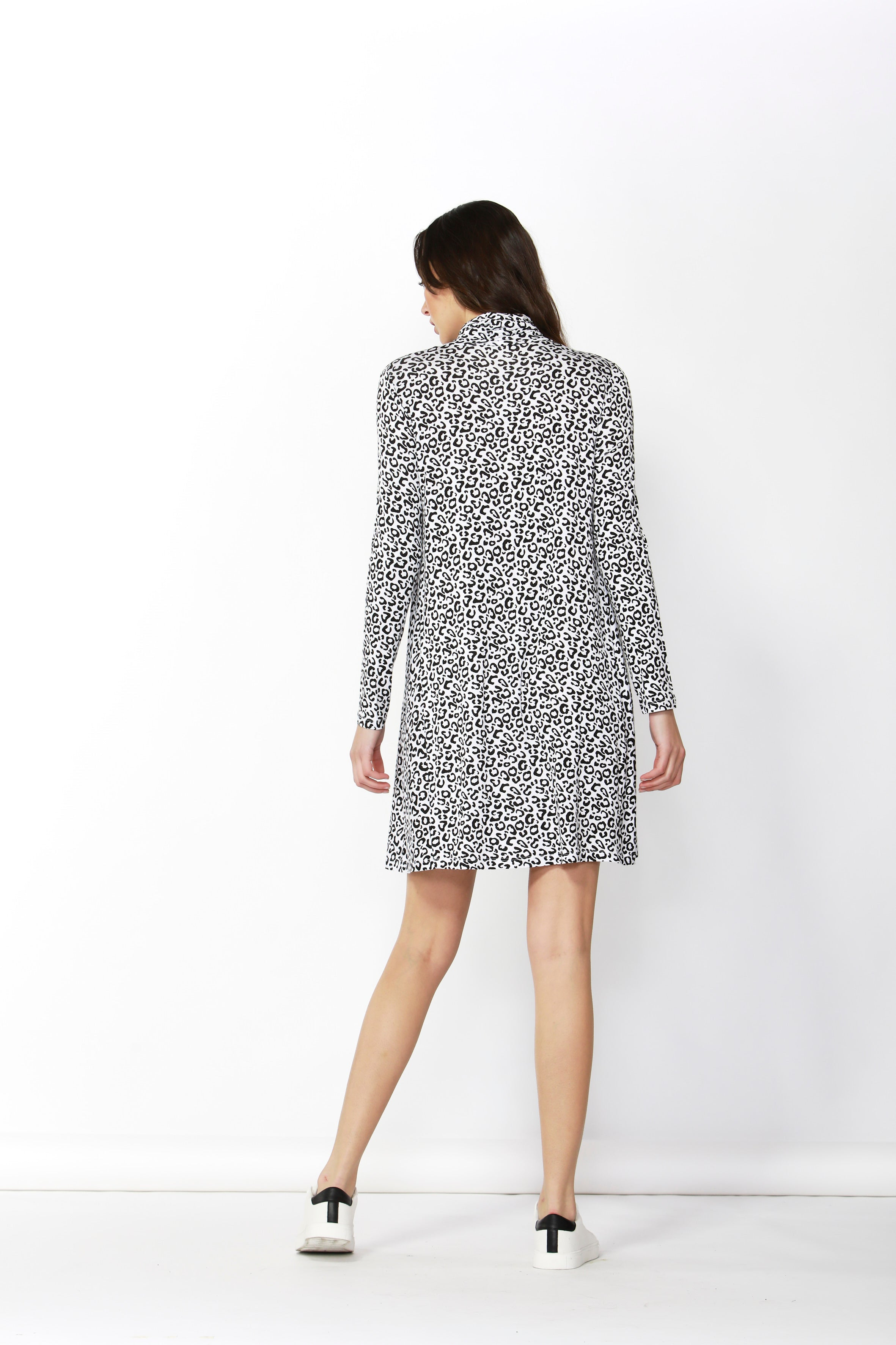 Toronto Dress - White Leopard Print