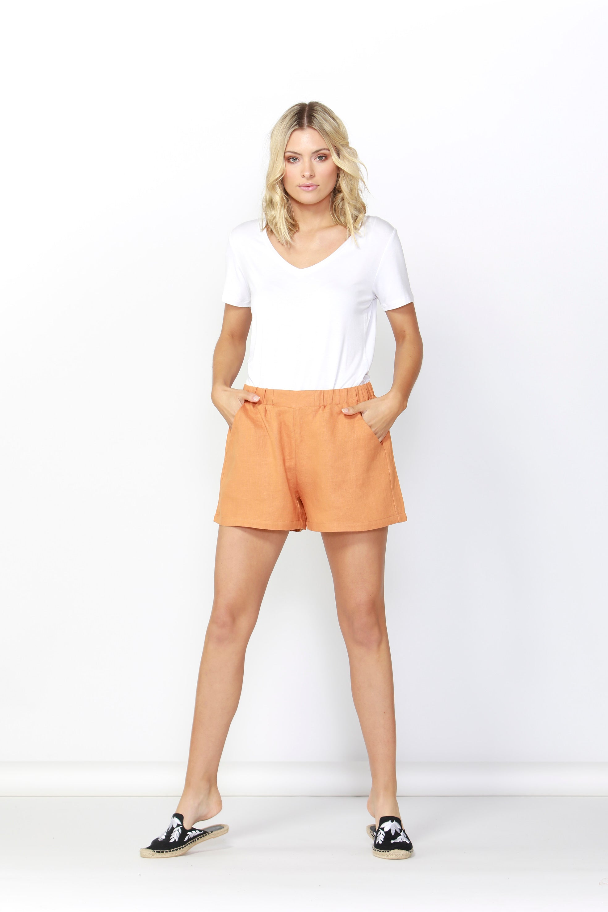 Jax Linen Short- Rust