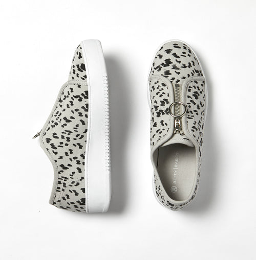 The Cruise Zip Sneaker- LEOPARD