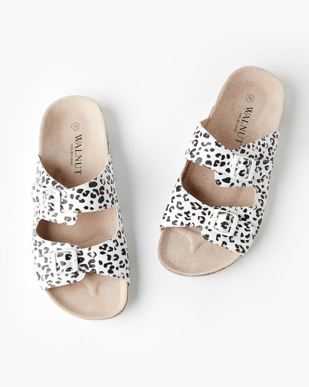 BAILEY SLIDE - WHITE LEOPARD
