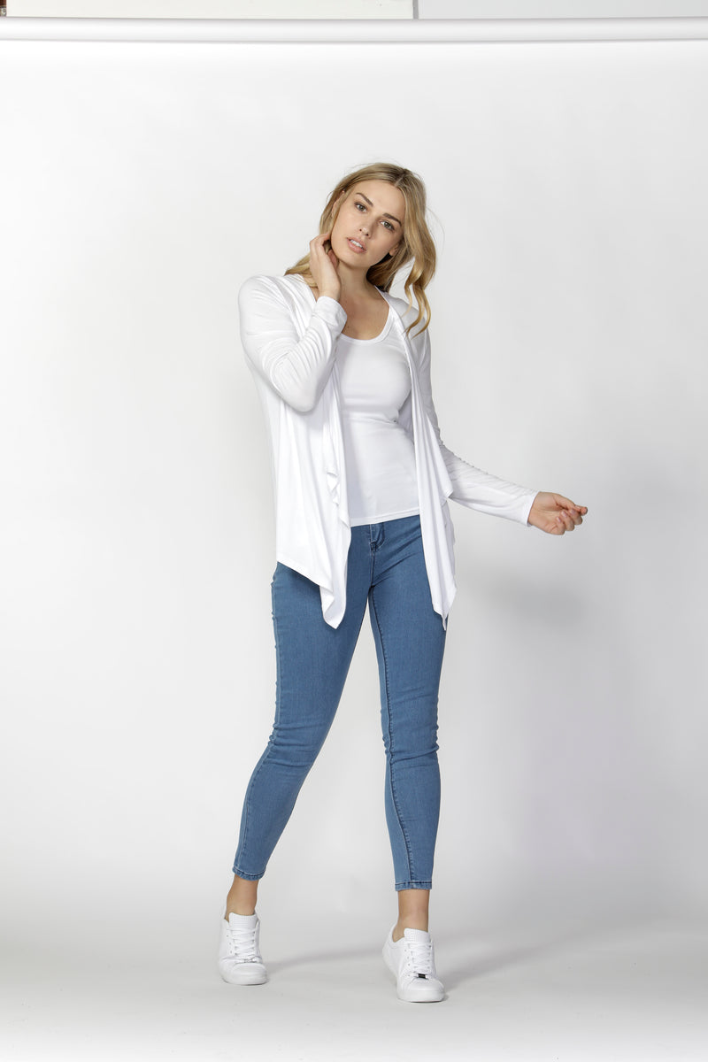 MELBOURNE CARDIGAN - white