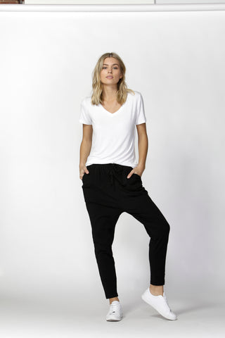 JADE PANT - BLACK & WHITE STRIPE