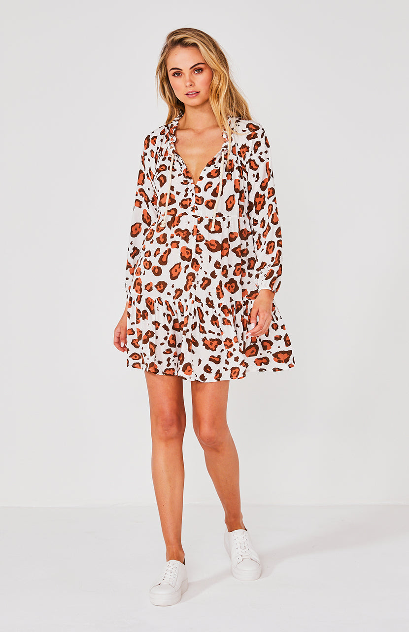 CALI SHIRT DRESS - SAFARI
