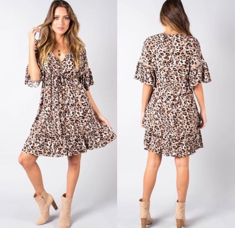 Chloe Leopard Dress
