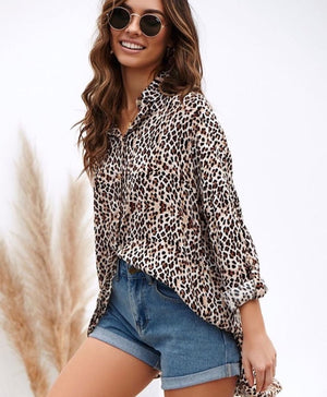 Sophie Leopard Shirt Dress