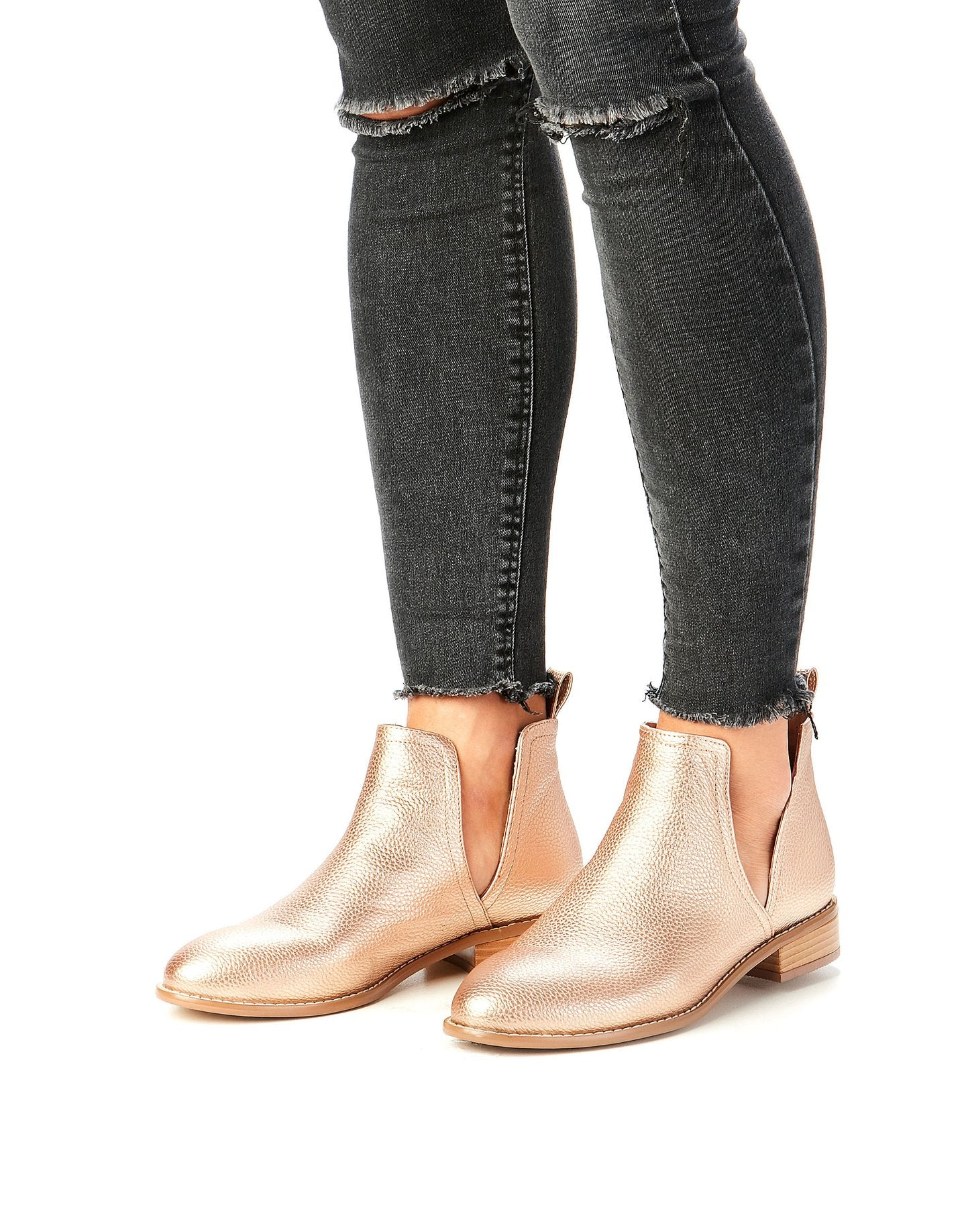 Clip Boot - Rose Gold Pebble