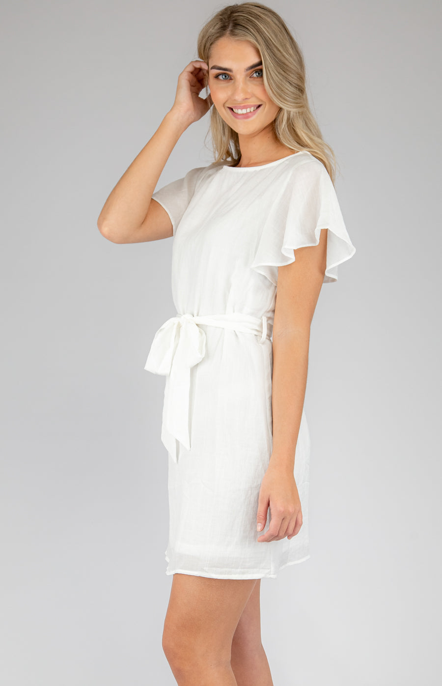 Casey Shift Dress - White