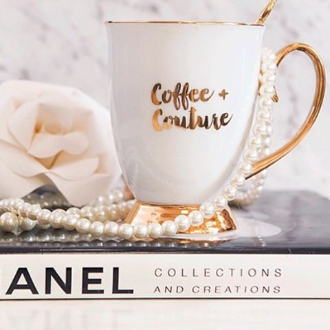 Designer Mug- Ivory Coffee + Couture