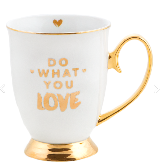 MUG DO WHAT YOU LOVE IVORY
