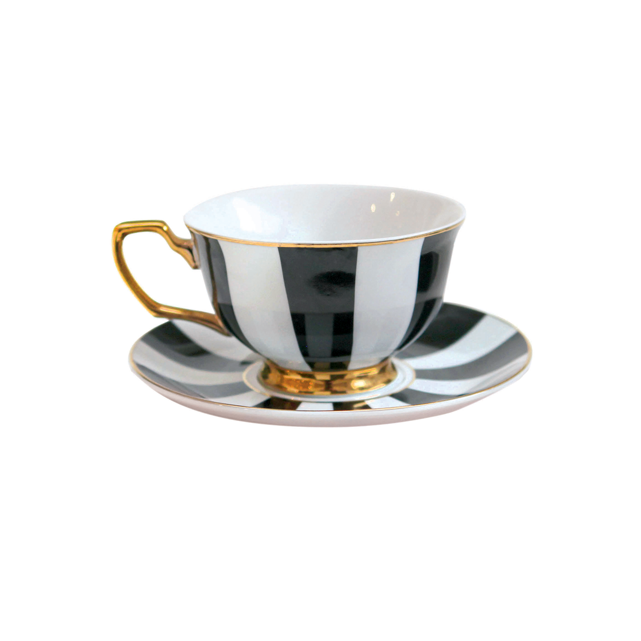 TEACUP STRIPE EBONY