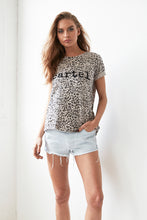CARTEL BEADED TEE - ZULU LEOPARD