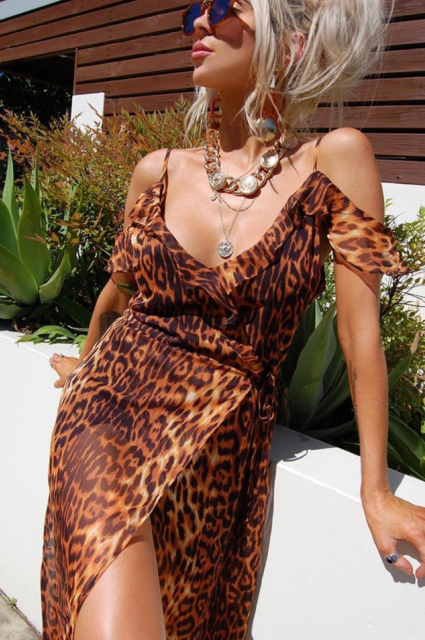 Stella Leopard Dress