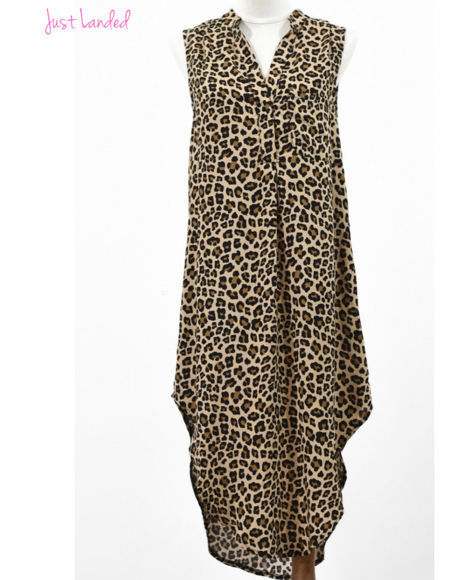 Elena Shirt Dress - Leopard Mocha