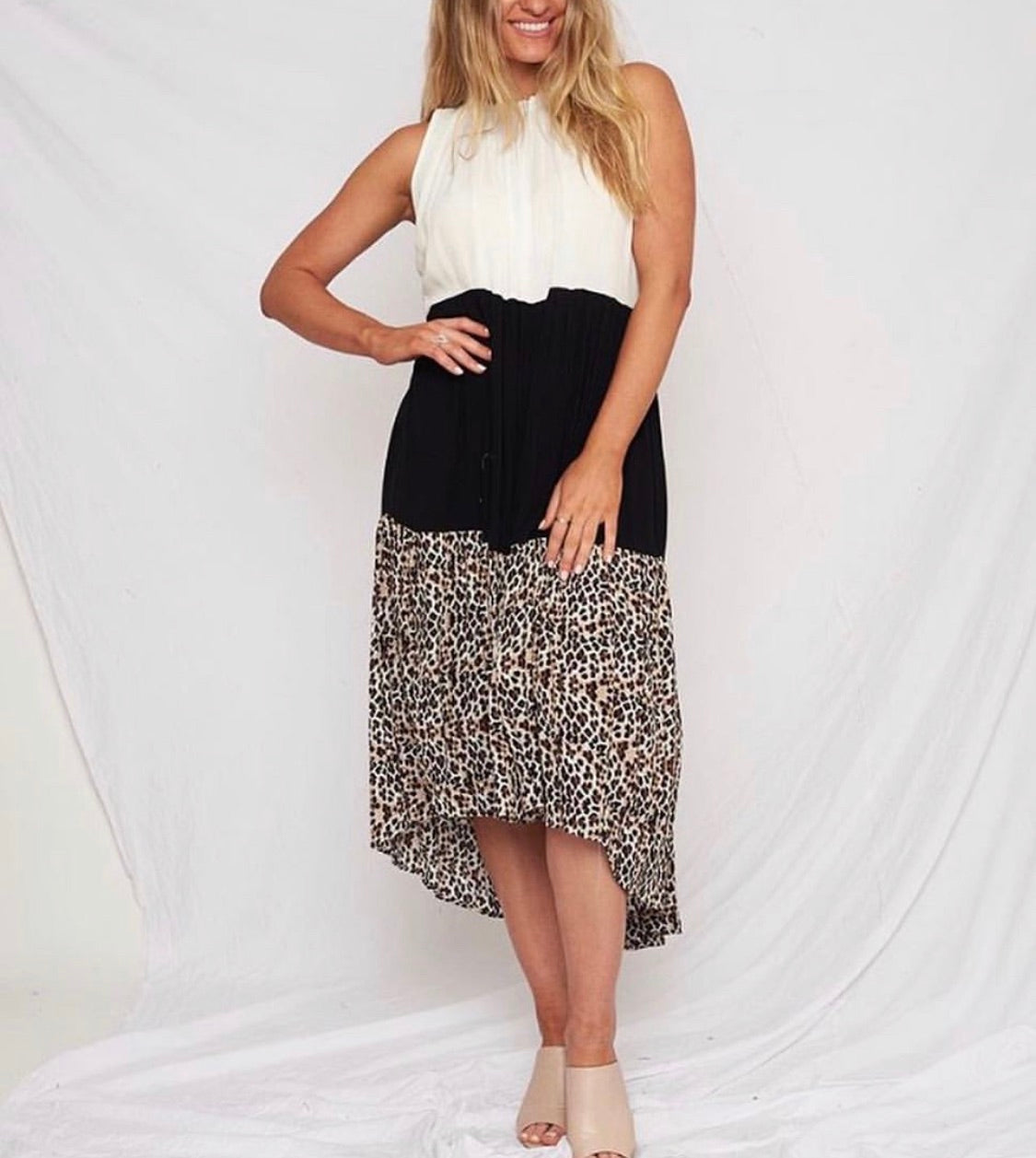 Chloe leopard Trio Dress