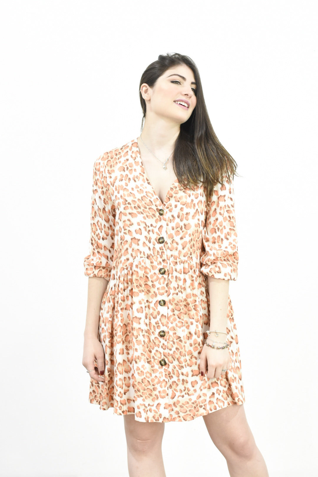 """Preorder Item""  Mia Dress- orange /leopard"