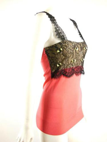 Alannah Hill The Flooding Tears Knit Cami with Lace Trim Size 10