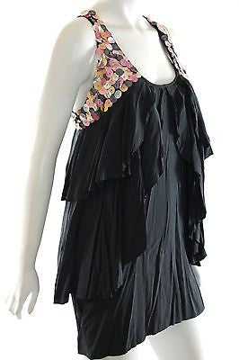 Sass & Bide Black Mermaid Discs Sequins Sleeveless Party Dress Size EU 36 US 0