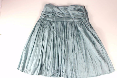 Country Road Pale Green Silk Gathered Pleated A Line Skirt Size 6