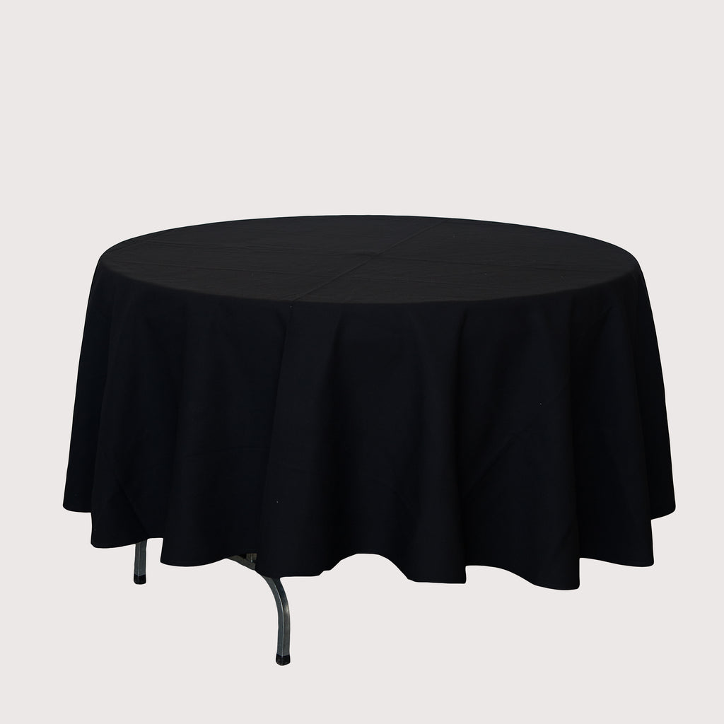 Tablecloth - Round 2.4m Black