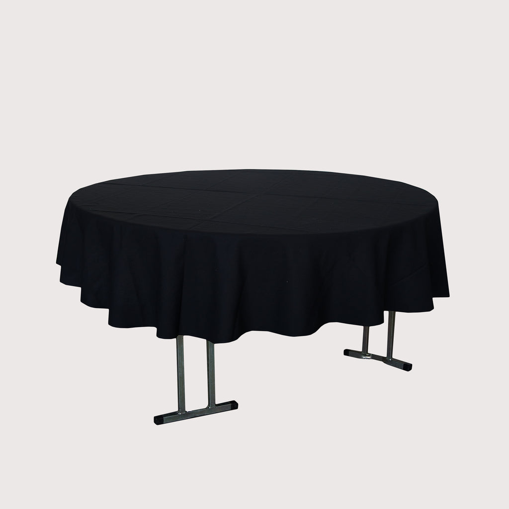 Tablecloth - Round 3m Black