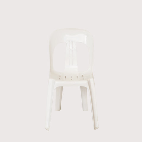 Plastic White Barrel chair