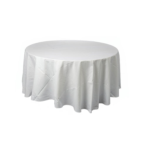 Tablecloth - Round 3m White