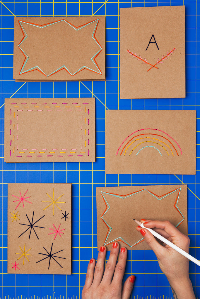 DIY Hand Stitched Cards
