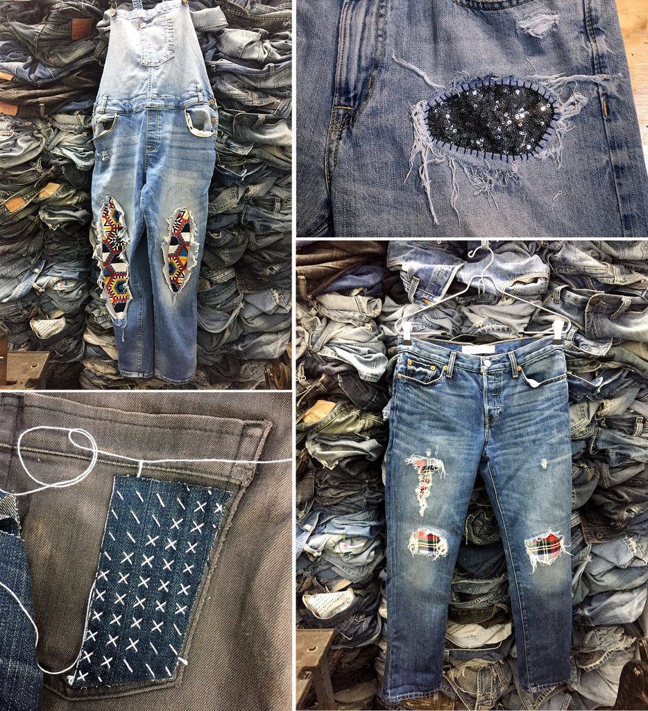 Alysson Reinert, denim therapy, patching, sashiko mending,