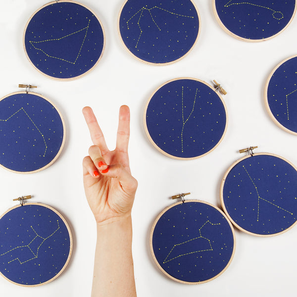 Two Zodiac Constellation Embroidery Kits