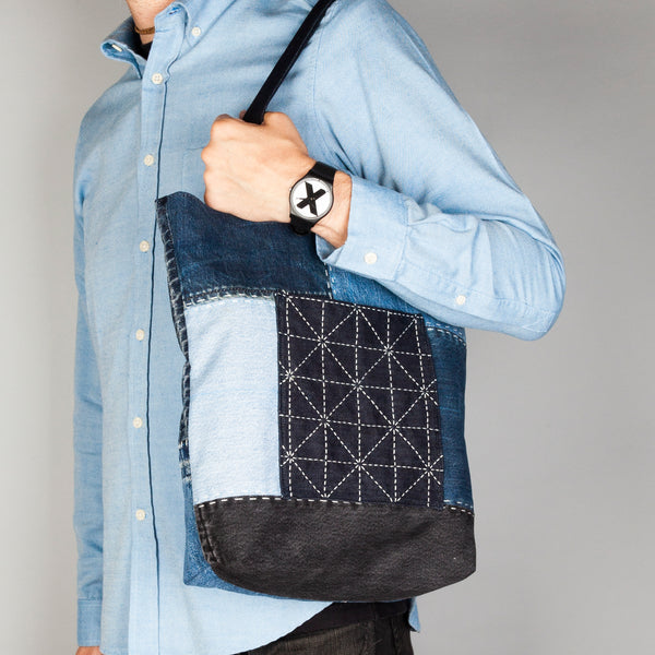 Patchwork + Sashiko Denim Tote 3