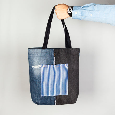Patchwork + Sashiko Denim Tote 4