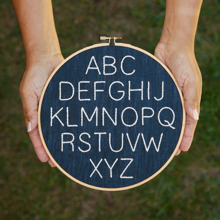 Minimalist Alphabet Sampler- PDF Pattern Instant Download
