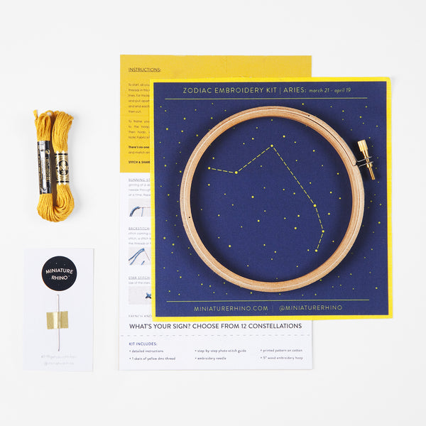 Aries Zodiac Constellation Embroidery Kit