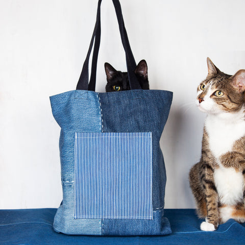 Patchwork + Sashiko Denim Tote 2