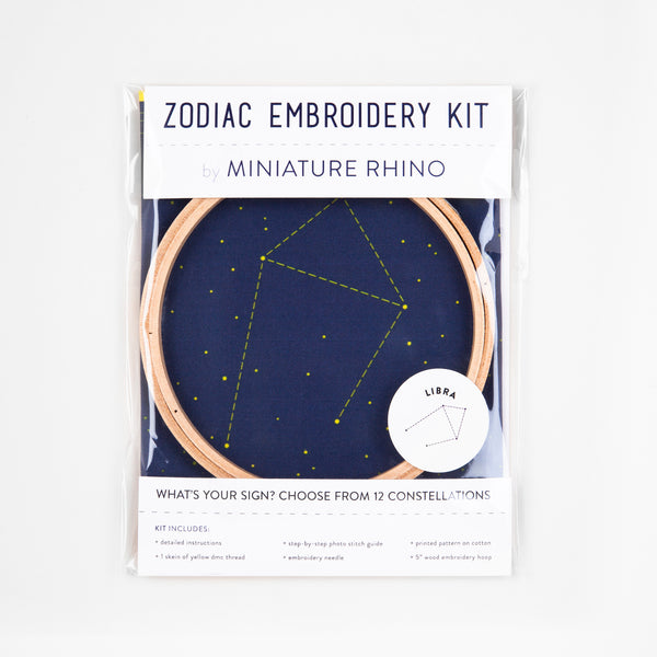 Libra Zodiac Constellation Embroidery Kit