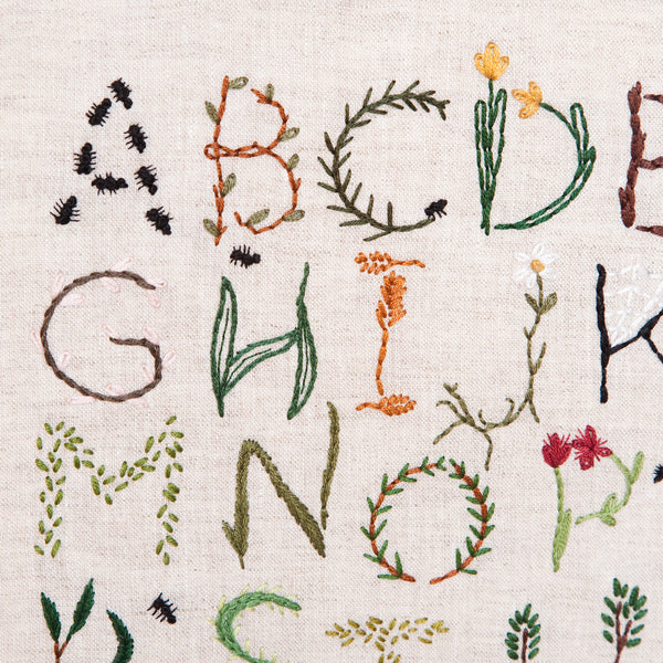 Nature Inspired Alphabet Sampler