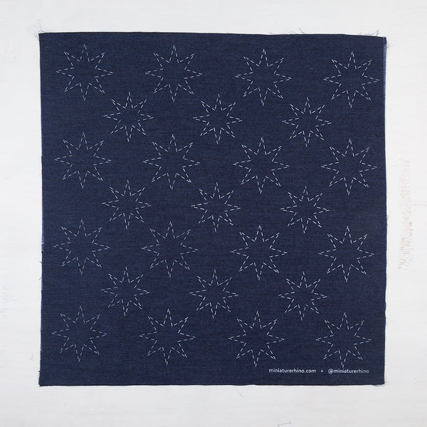 Stars- Silk Screened Embroidery Pattern
