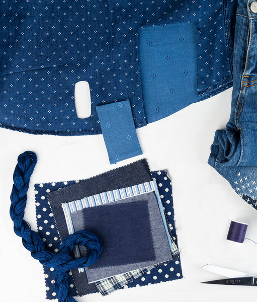 Beyond Denim - Patching Lightweight, Synthetic & Stretch Fabrics Online Class, May 23 1-3 pm EST