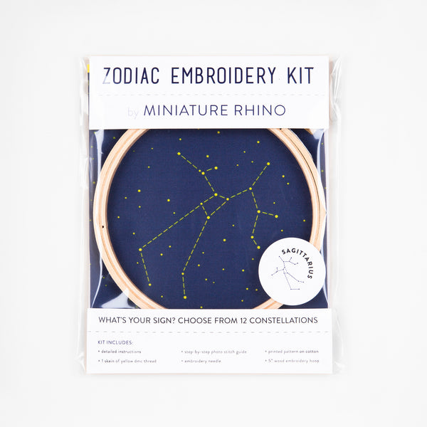 Sagittarius Zodiac Constellation Embroidery Kit