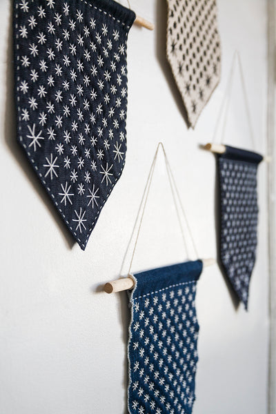 DIY Starry Sashiko Banner Kit
