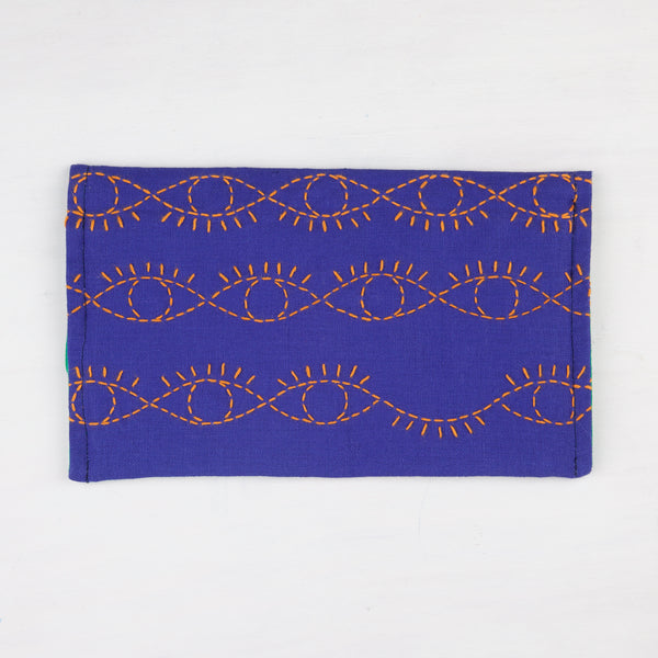 Evil Eye Sashiko Stitched Clutch