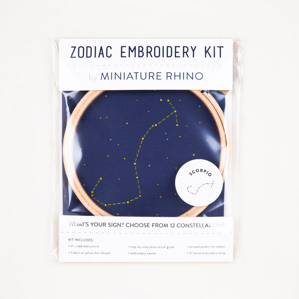 Scorpio Zodiac Constellation Embroidery Kit