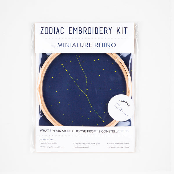 Taurus Zodiac Constellation Embroidery Kit