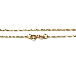 14k Yellow Gold Sword & Ruby Charm Necklace