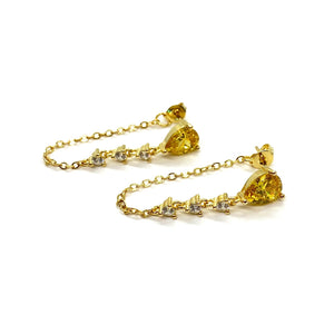 Annie Chain Studs (Canary Yellow)
