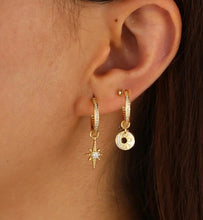 Load image into Gallery viewer, 18k Yellow Gold Plated Bianca Hoops
