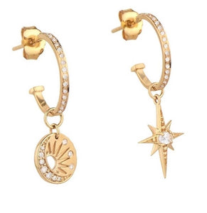 18k Yellow Gold Plated Bianca Hoops