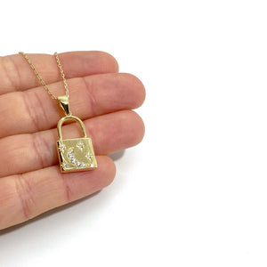 18k-Yellow-Gold-Vermeil-Celestial-Lock-Charm-Necklace