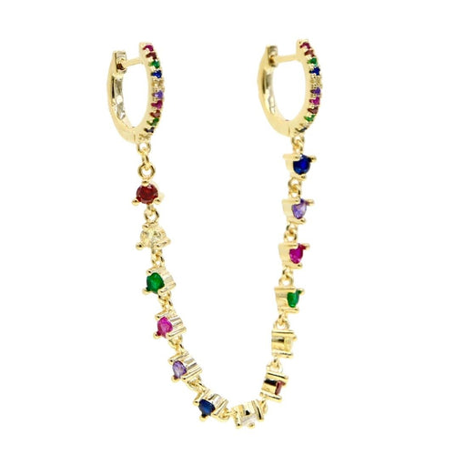 18k-Yellow-Gold-Plated-Charlie-Double-Piercing-Huggies-Rainbow