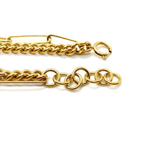 Load image into Gallery viewer, 18k Yellow Gold Plated Chunky Double Chainlink Chain Necklace